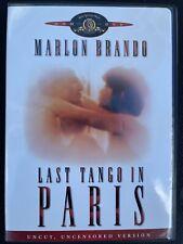 Last Tango in Paris DVD (Uncut, 2005) Marlon Brando Like New Ships Free