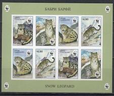 Tajikistan 2019 MNH** Mi.832-35 B KB  WWF Snow Leopard imperforated