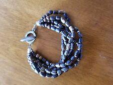 Silpada bracelet sterling and wood multi strand