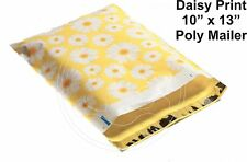 New listing (60) Daisy Flower Print 10 x 13 Poly Mailers Self Sealing Envelopes Bags Designe