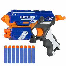 Foam Bullet Blaster Toy Hand Gun, Long Distance Shooing Range, 10 Darts Included