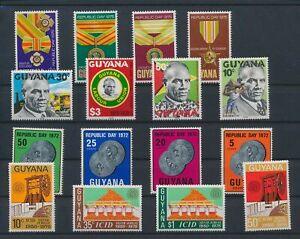 LN88027 Guyana mixed thematics nice lot of good stamps MNH