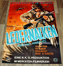LEDERNACKEN MARINE RAIDERS - Org. Plakat A 1 -1944- Robert Ryan, Pat O´Brien
