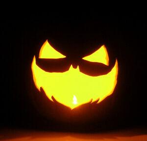 "BATMAN: THE LONG HALLOWEEN Jack-O'-Lantern Prop (Hand-Carved Foam Pumpkin 9"")"