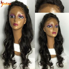 Synthetic Curly Long Wigs Lace Front Wig Natural Color Full Caps Party 16 Inches