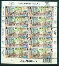 Großbritannien Alderney 121-128 im Bogen mit 2 x 5 Zd , ** , = 10 Sätze