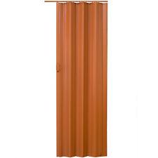 Porte Accordéon Placard Pliante Extensible PVC Salle Bain 80x203cm Chêne Foncé