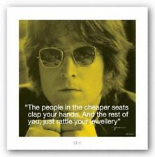 Quote John Lennon Cheaper Seats Rock Music Art Print 10x10