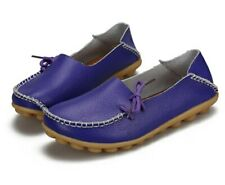 New Women Flats Genuine Leather Shoes Candy Color Boat Shoes Flat Shoes
