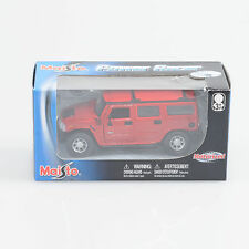 Maisto Power Racer Red Hummer H2 Scale Motorized Die Cast Metal - Case of 36