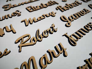 Letters Names Words Bespoke Signs Personalised Gift Wooden Scripts