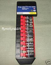 "Kobalt 10 piece 1/4"" Drive 6 Point SAE Socket Set 0338636 - NEW"