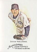 2008 Topps Allen & Ginter Baseball #165 Justin Verlander Detroit Tigers