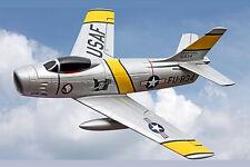 """1/8 Scale F-86 SABRE scratch build R/c Plane Plans  55""""ws DUCTED FAN"""