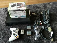 Microsoft Xbox 360 120GB Console Bundle-9 Games-1 Controller, Headset/mic, leads