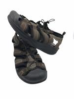 Mens Skechers Shape-Ups Biopace Sport Toning Sandal Brown Walking Hiking Size 12