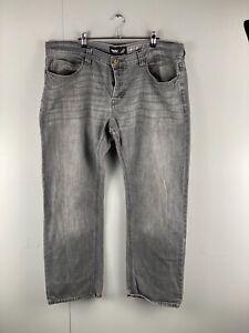 Mossimo Men's Stretch Denim Jeans Zip Pocket Size 40 Grey