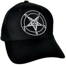 Sabbatic Baphomet Goat Head Hat Baseball Cap Occult Clothing Satanic Anton LaVey