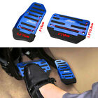 Blue Break Foot Pads Non-slip Automatic Gas Brake Foot Pedal Pad Cover Car Parts