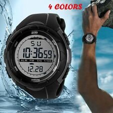 Luxury Date Rubber Men's Waterproof Sport Wrist Watch LCD Digital
