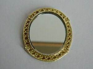 (HP1.10) 1/12th scale DOLLS HOUSE OVAL MIRROR