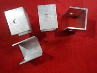 """ALUMINUM CHANNEL 1 1/2"""" X 1 3/4""""  -  2"""" IN LENGTH 4 PIECES PRE-DRILLED"""
