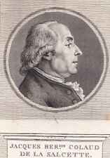 Portrait XVIIIe Jacques-Bernardin Colaud de La Salcette Prêtre Député 1789