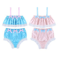 Sissy Men Bra Top Panties Sleepwear Lingerie Pajamas Robe Dress Underwear Set