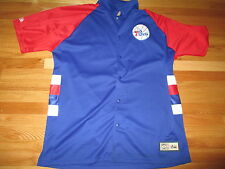 Hardwood Classics PHILADELPHIA 76ers Button-Down Warm-Up (XL) Basketball Jacket
