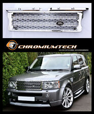 05-09 Range Rover SPORT Full Chrome Grill 2010 NEW Look w/FREE Land Rover Badge