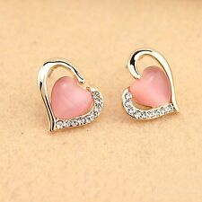 Shaped Graceful Women's Fashion Girl's Opals Earrings Ear Studs Rhinestones