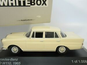 WHITEBOX, 1:43 Scale, MERCEDES-BENZ 200D W110, 1965, GERMAN CLASSIC CAR