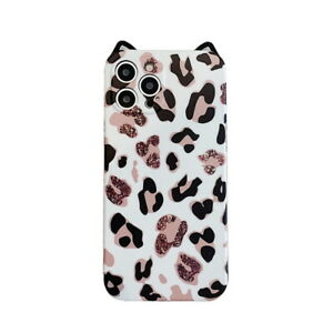 For iPhone 12 Pro Max 11 XS XR 7 8 Plus Leopard Soft TPU Case Cover With Lanyard