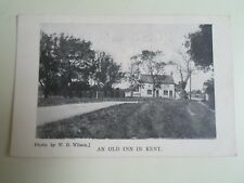 """KENT An Old Inn In Kent Photo by W D Wilson """"Idle Moments"""" Retro Postcard §A2634"""