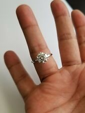 3.00 Carat Moissanite Forever Classic 6 Prong Solitaire Ring Charles & Colvard -