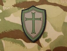 Platatac Crusader Shield Morale Patch Infidel Christian SEAL Green Beret Olive