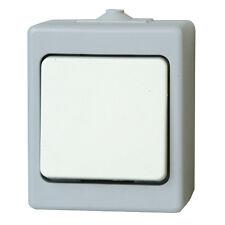 IP54 Schalter Wechselschalter Serienschalter Feuchtraum Aufputz Weiß 2xSchalter