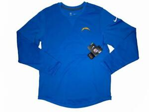 NIKE NFL Los Angeles Chargers Men's Long Sleeve Shirt Size M Medium Blue NWT
