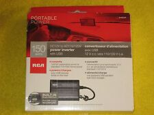 RCA AH620R 150W DC to AC Power Inverter with USB Outlet, New!