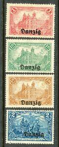 DANZIG -1920 SC # 8-11 FI # 8-11,-MLH ( 1 )