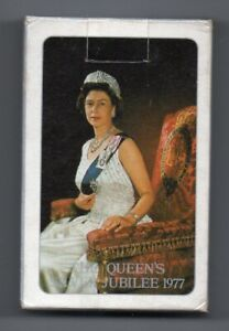 #O.001 Vintage Swap / Playing Card OPENED DECK, Queen's Silver Jubilee 1977