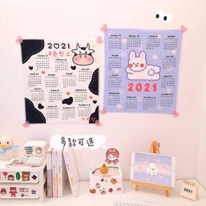 2021 Cartoon Wall Fabric Calendar Daily Schedule Planner 39X35 CM Gift for K^BI
