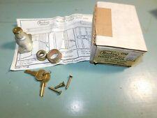 Rare Vtg John Sterling Pocket Door Hardware Mortise Lock Key Nos