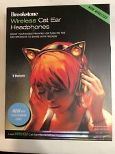 Brookstone Wireless Cat Ear Headphones (Color Changing) - Free Shipping