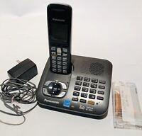 Panasonic KX-TG6441 DECT 6.0 Cordless Phone Handset Answering Machine 4 Battery