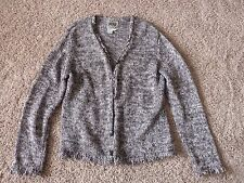 Curio cardigan size XL in gray and white knit