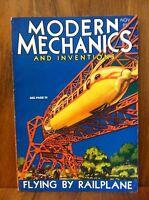 MODERN MECHANICS MAGAZINE NOVEMBER 1930 FLYING BY RAILPLANE