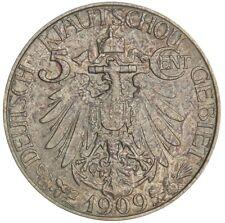 Kiau Chau China / German Colony 1909 5 cents AU58 PCGS, Undergraded!