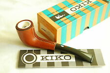KIKO No.42 Leather Vintage Genuine Meerschaum Block Lined Pot Pipe Unsmoked NOS