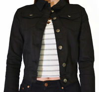 WAKEE WOMEN'S BLACK DENIM JACKET.